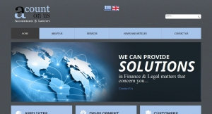 Website for Financial and Legal Services acountonus.gr