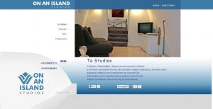 Web site construction for Studios in Fira Santorini