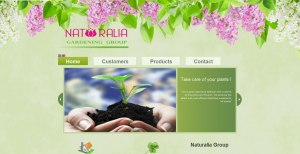 WebSite construction with compost for gardening, tools and support for plants and gardening