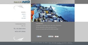 Web design for rooms in Agios Minas - Santorini
