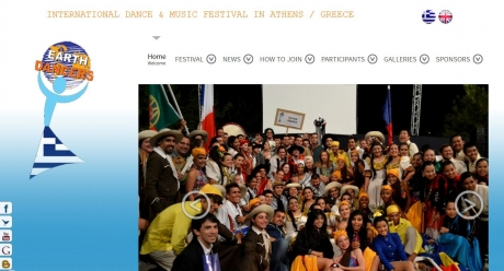 Web design for the INTERNATIONAL DANCE & MUSIC FESTIVAL