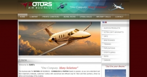 Website Design for integrated services on airplanes or helicopters