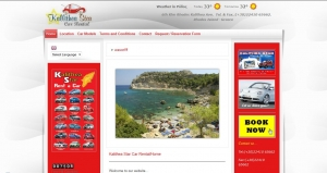 WebSite for Kalithea Star Car Rental