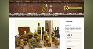 Web design e-shop for oil products from the region of Hermionid