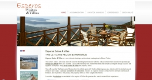 Website Design for the Esperos Suites & Villas in Pelion